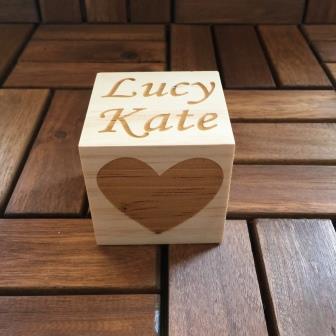 personalised baby block