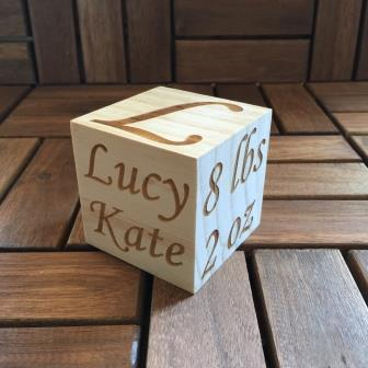 personalised baby block
